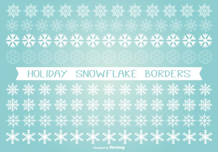 Holiday Snowflake Border Set