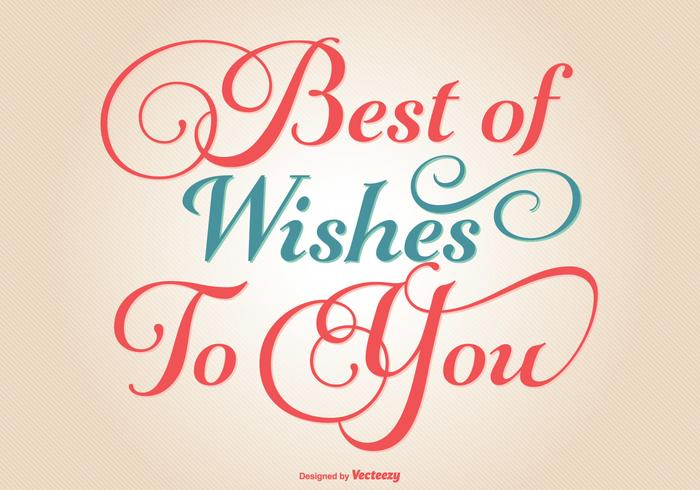 Typographic Best Wishes Illustration