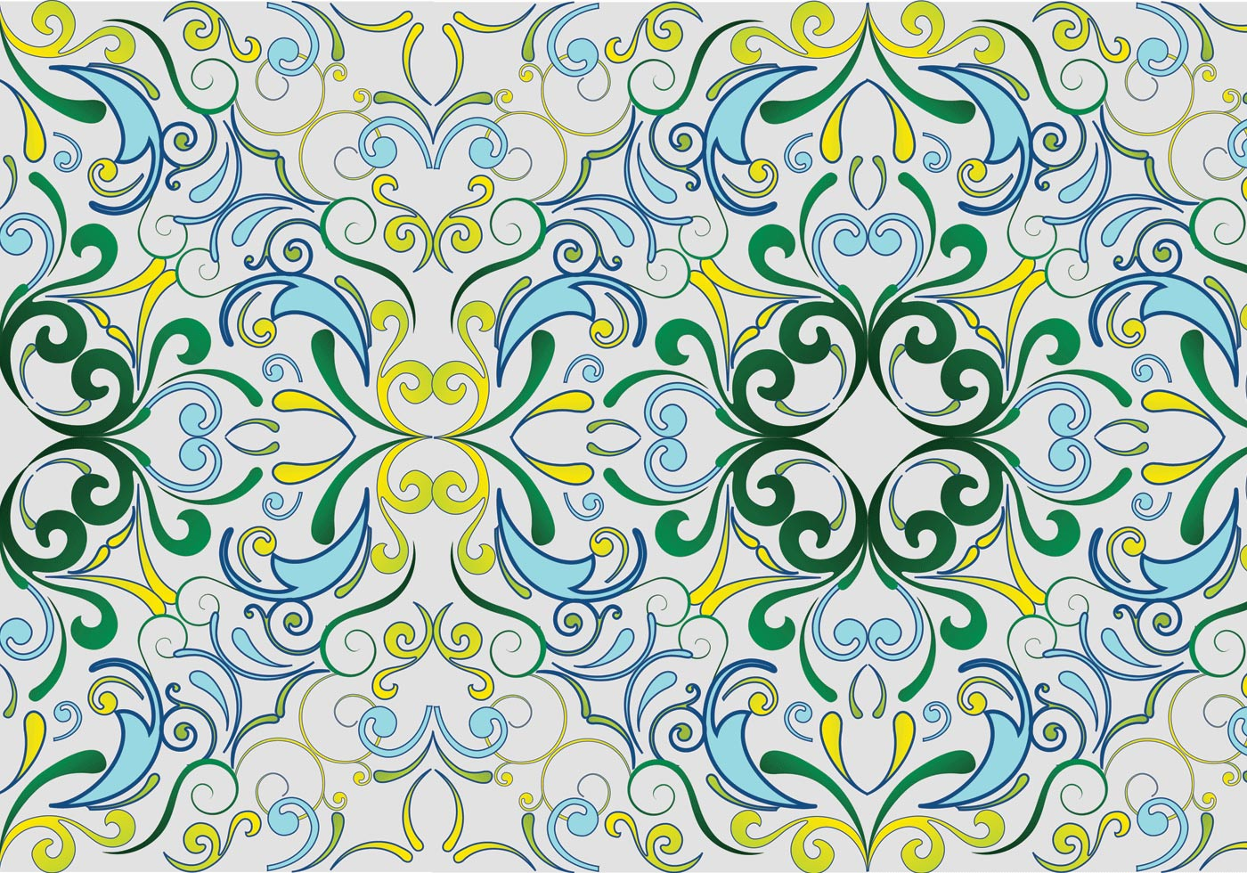 green seamless garden pattern