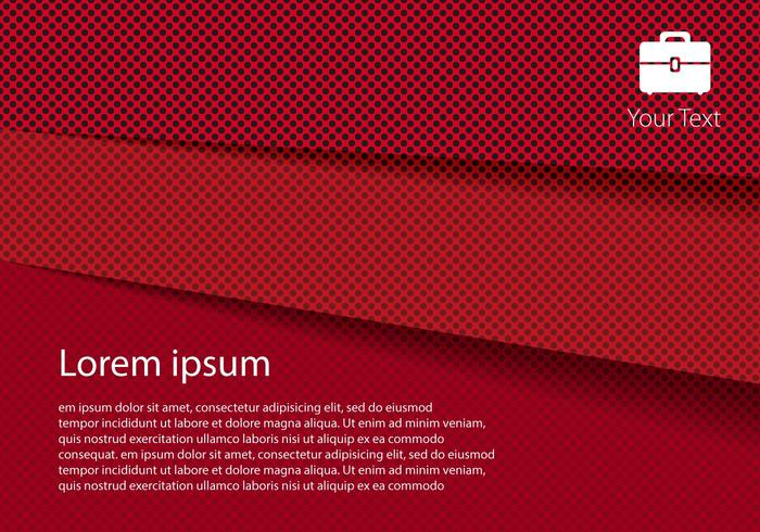 Free Red Paper Layer Vector
