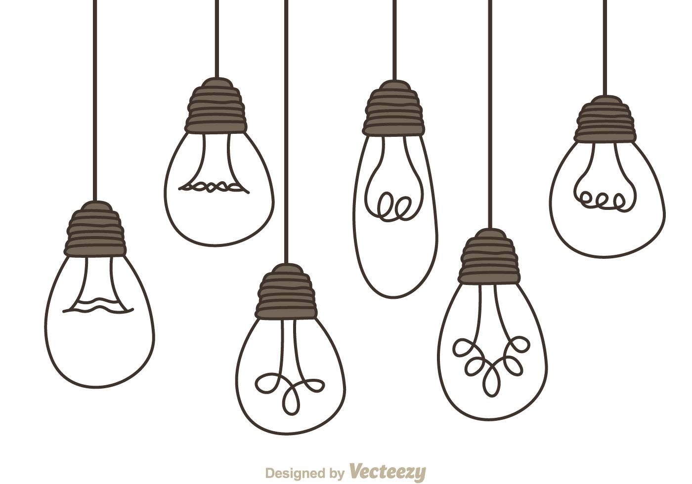 hanging light bulbs download free vector art  stock light bulb vector free icon light bulb vector free