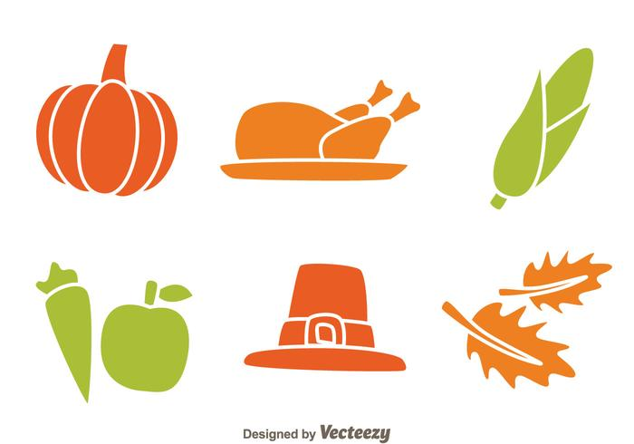 Thanksgiving Icons Isolated