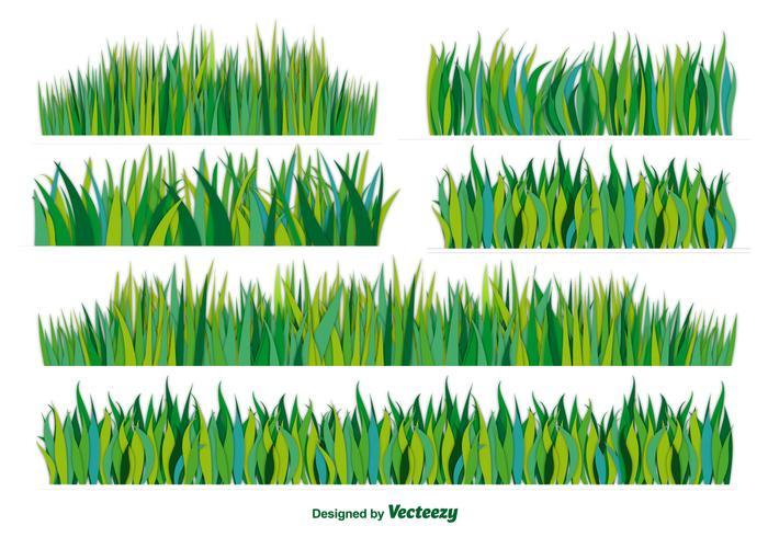 Vektor platt gräs