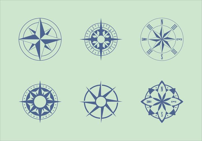 Vettori classici del grafico nautico