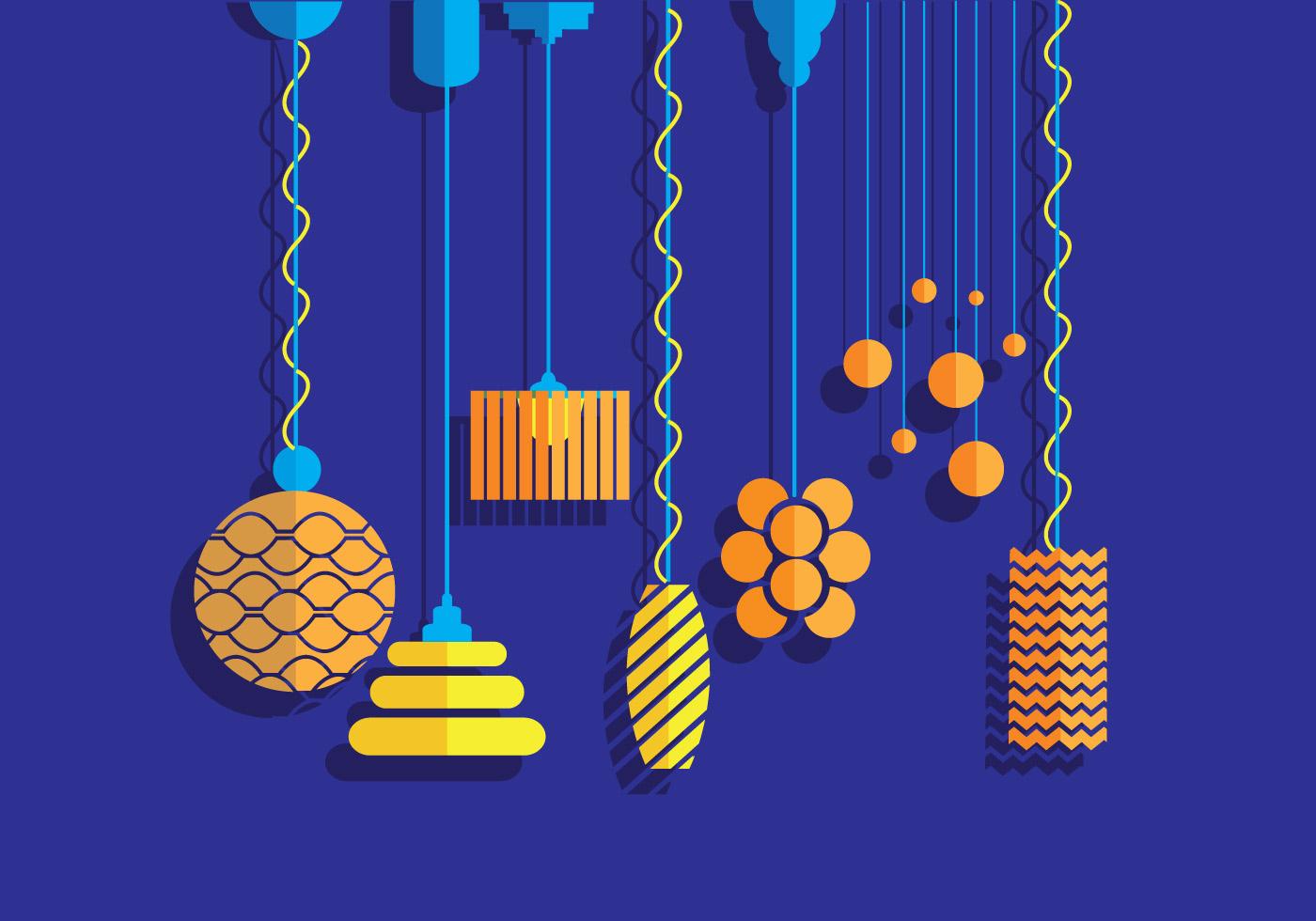 hanging light vectors