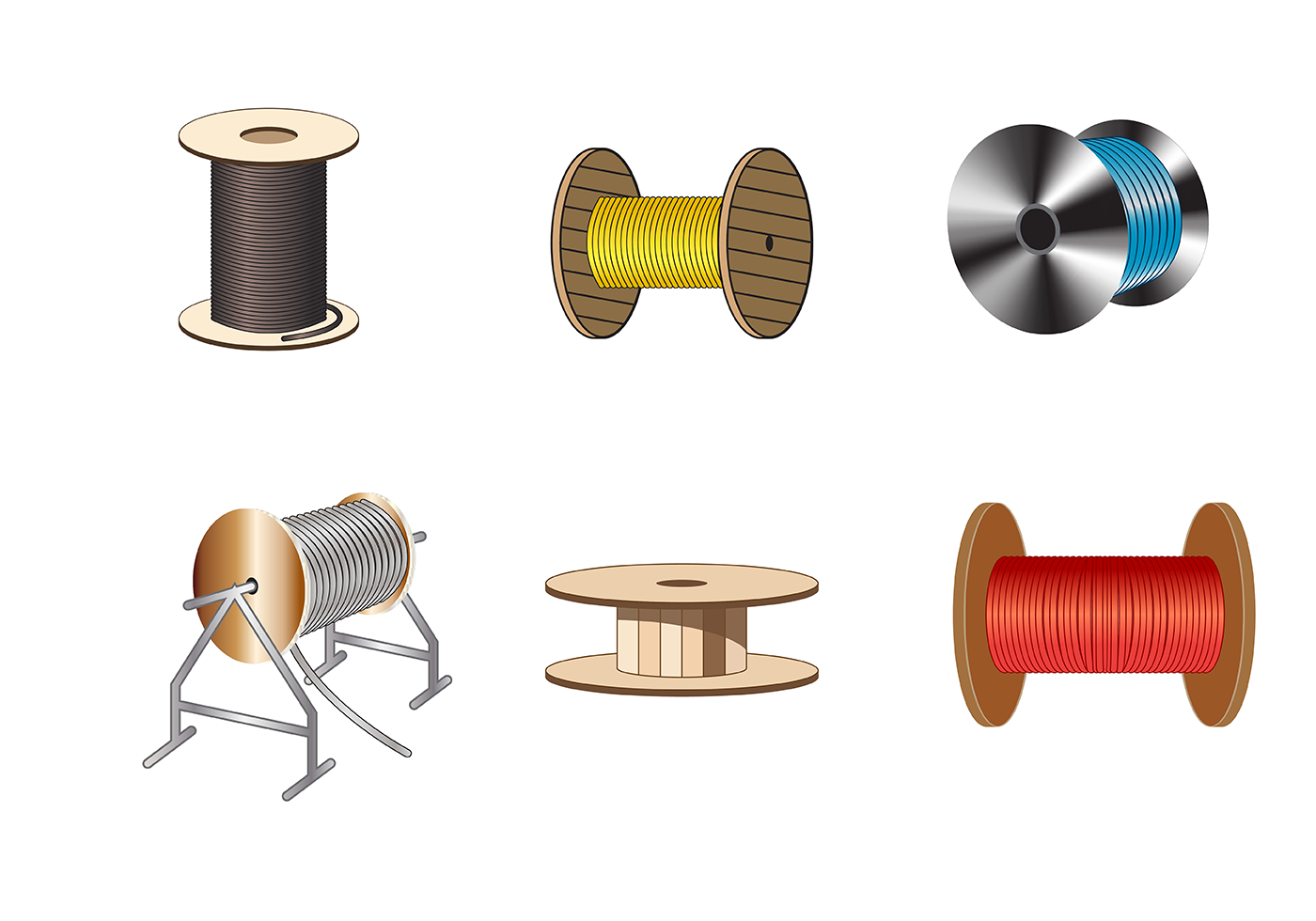 Free Cable Spool Vector Download Free Vector Art Stock
