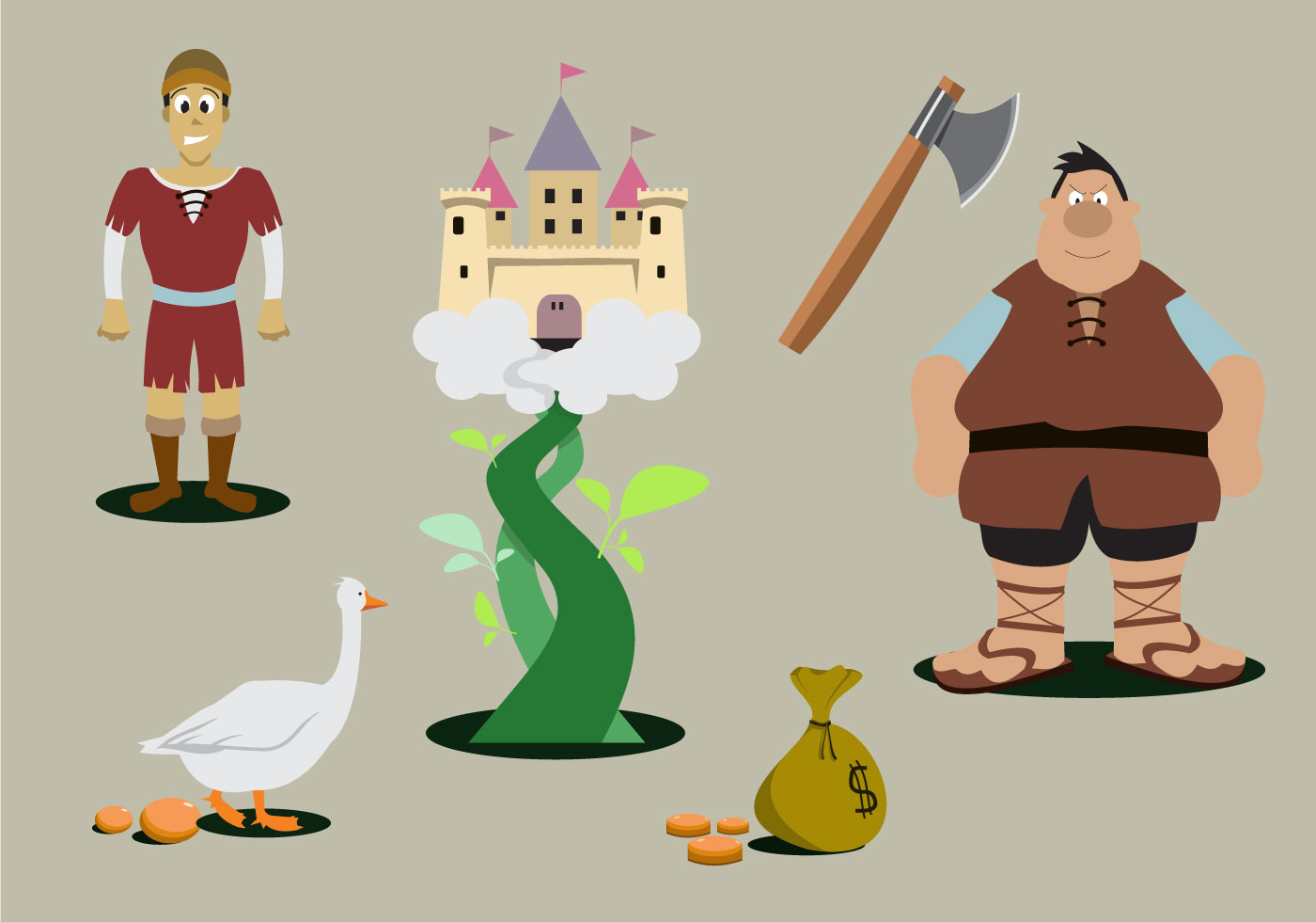 jack and the beanstalk download free vector art stock graphics