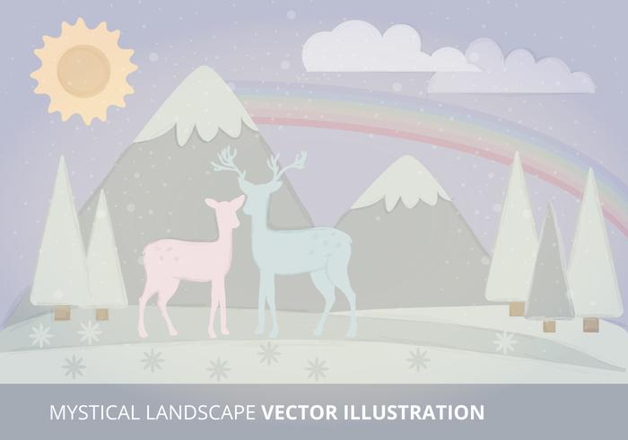 Mystical Landscape Vector Illustration