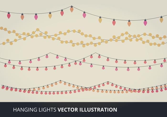 Hanging Lights Vector Elements