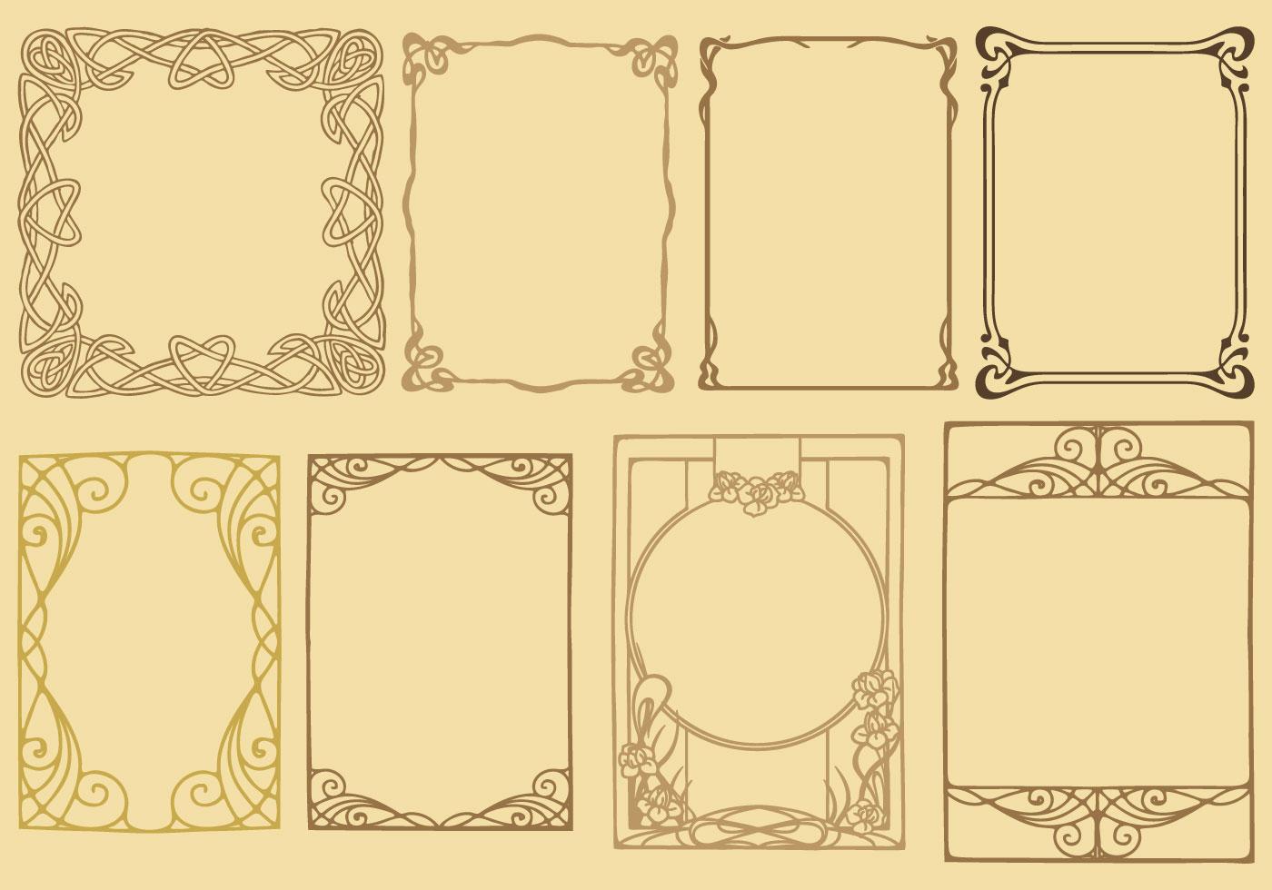 Decorative frames set download free vector art stock graphics - Art Nouveau Frame Vectors Download Free Vector Art