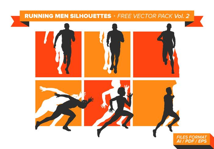 Running Men Silhouettes Free Vector Pack Vol. 2