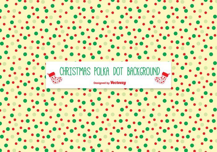 Christmas Polka Dot Pattern Background