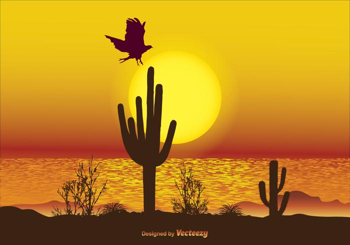 Beautiful Landscape Scene Illustration