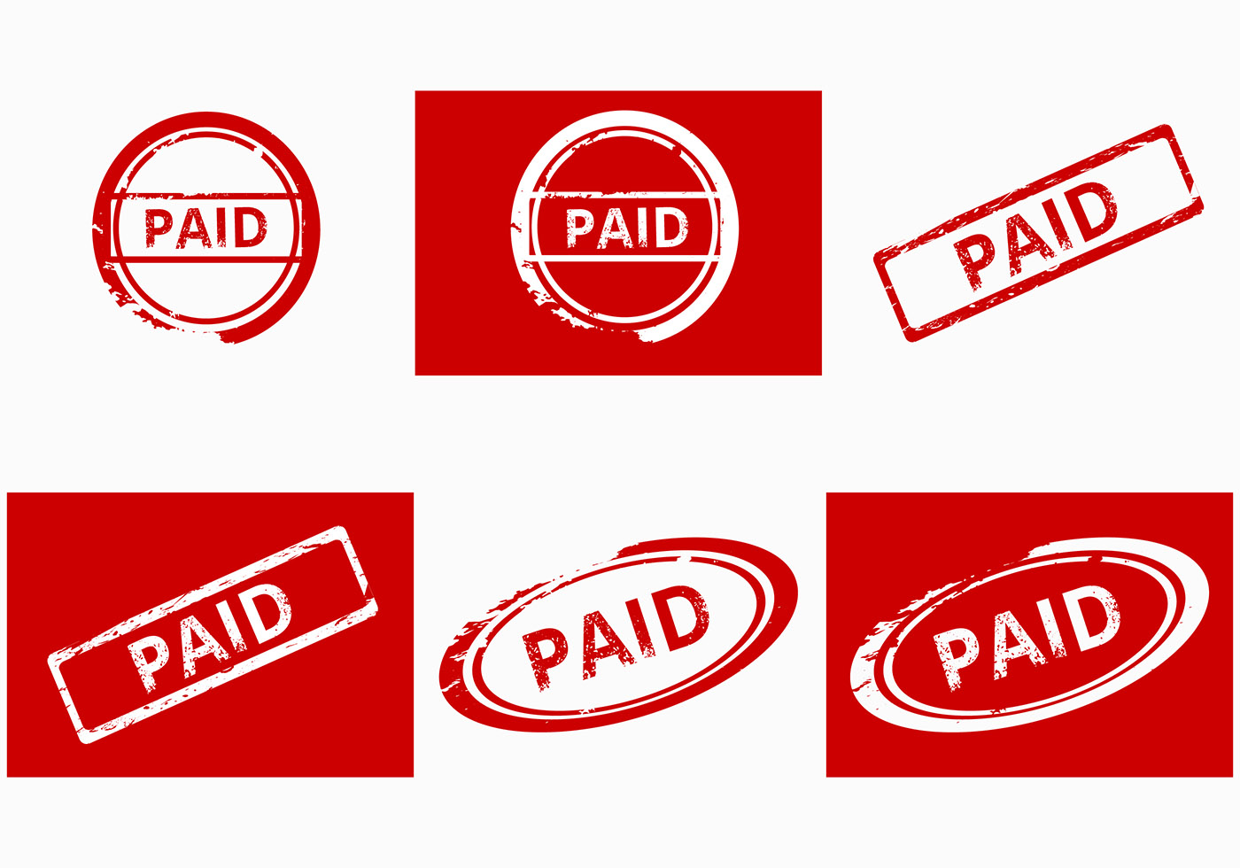 Paid Stamp Vector