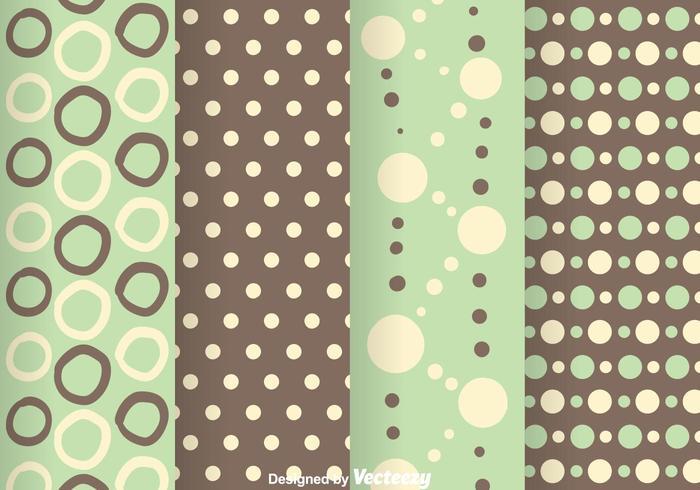 Grön och Grå Polka Dot Mönster