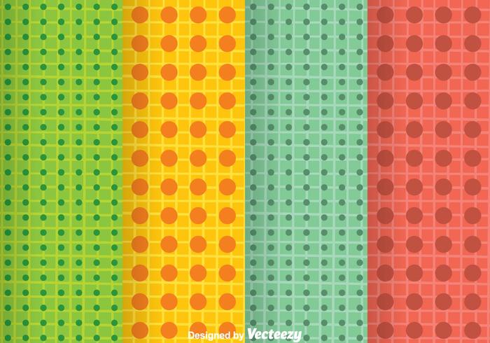 Bright Colors Dot Pattern vector