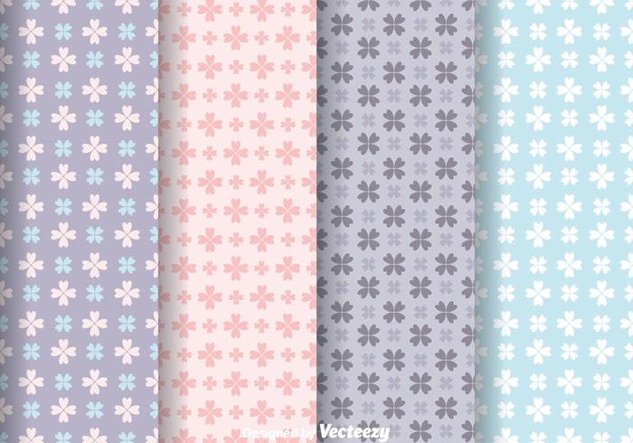 Love Flower Girly Pattern Vectors