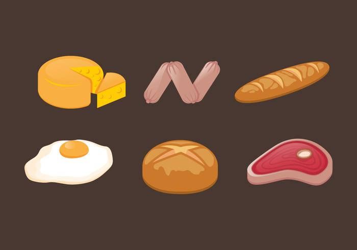 Vector Food llustration conjunto