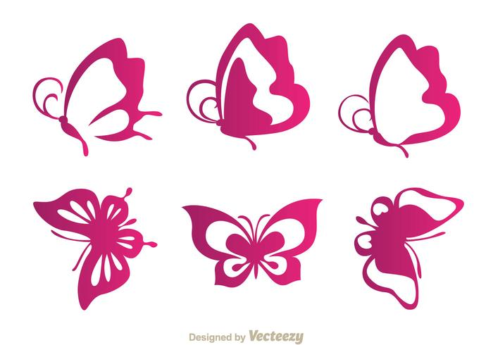 Butterfly Purple Icons