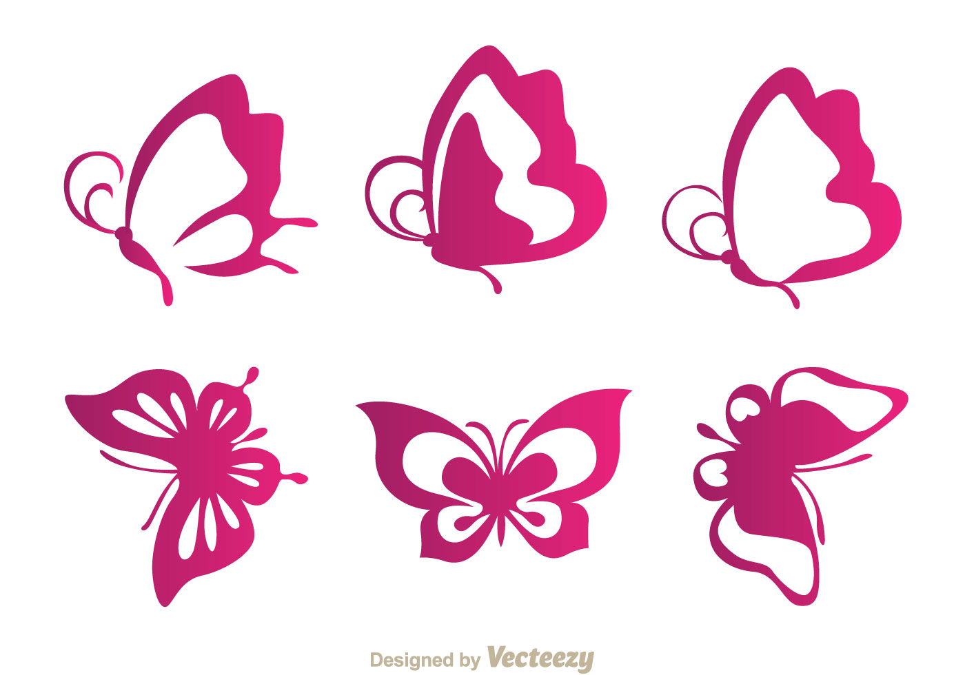 butterfly purple icons download free vector art stock