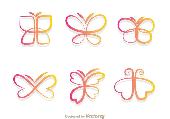 Butterfly Gradient Icons