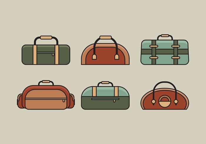 Vector Bag Illustration Set