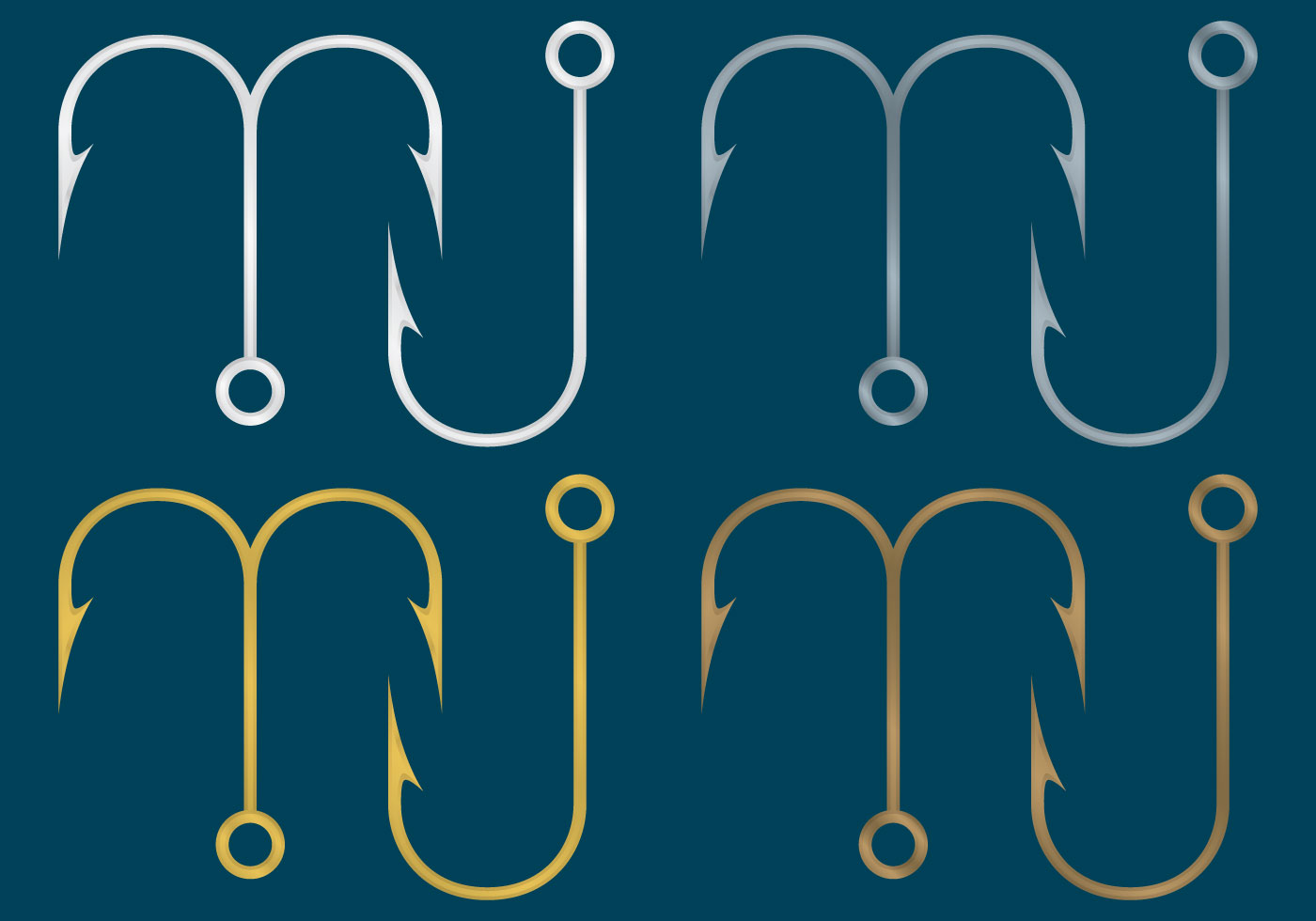 Fish Hook Vectors - Download Free Vector Art, Stock ...