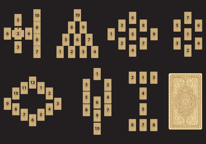Letture delle carte dei Tarocchi vettore