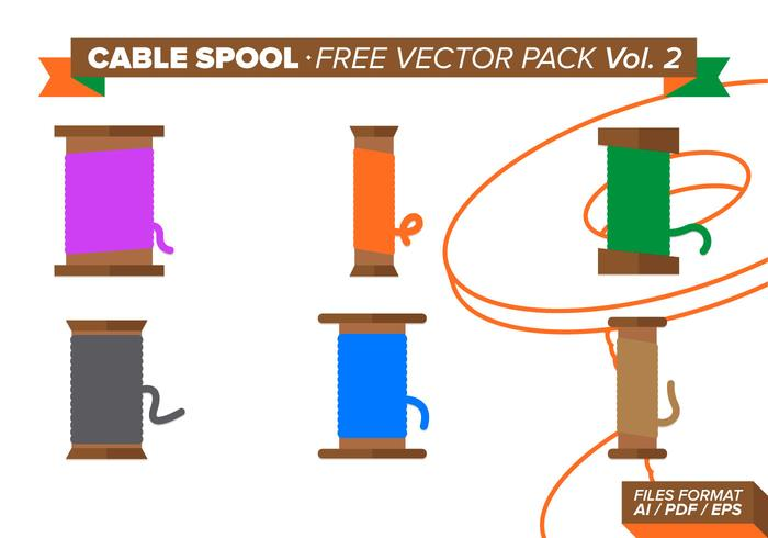 Cable Spool Free Vector Pack Vol. 2