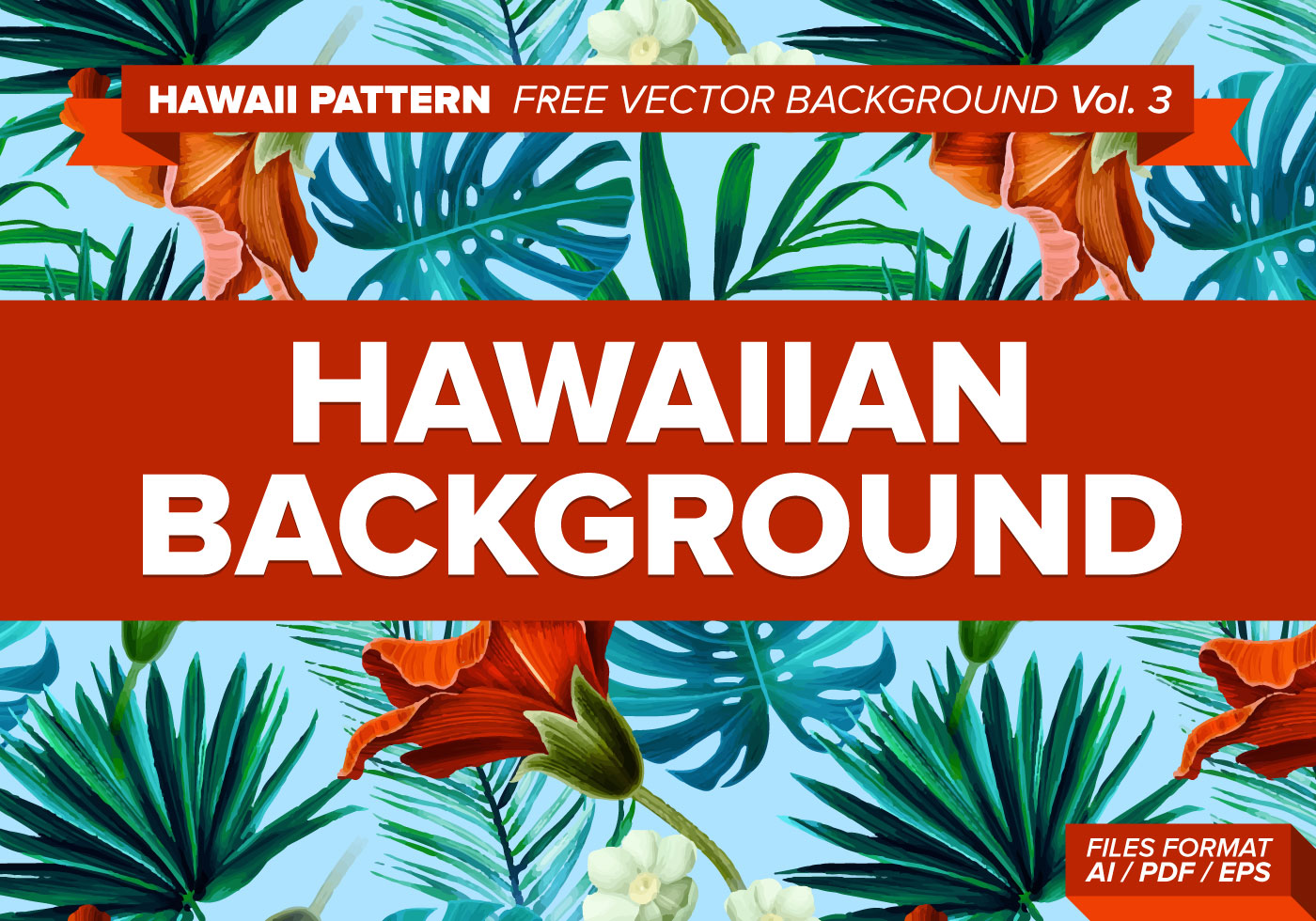 hawaiian pattern vector background vol 3 download free