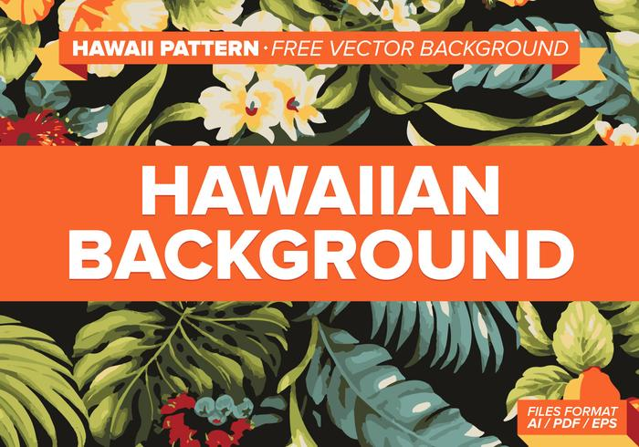 Hawaiian Pattern Free Vector Background