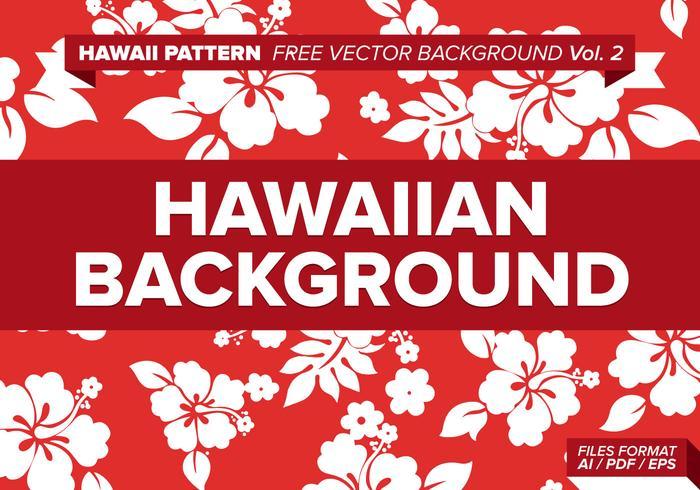 Hawaiian mönster fri vektor bakgrund vol. 2