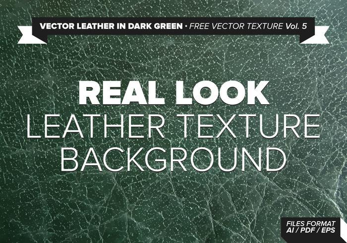 Vector Leather In Dark Green Free Vector Texture Vol.5
