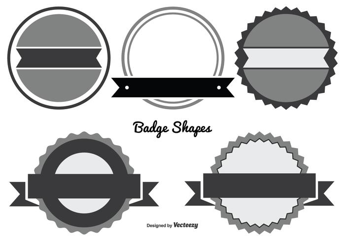 Assorted Badge Shape Set