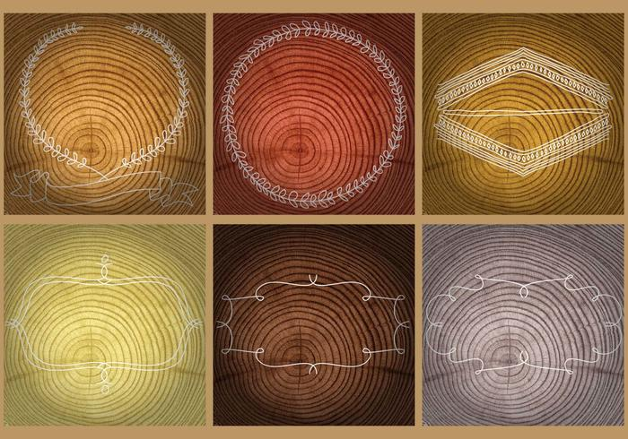 Tree Rings Templates vector