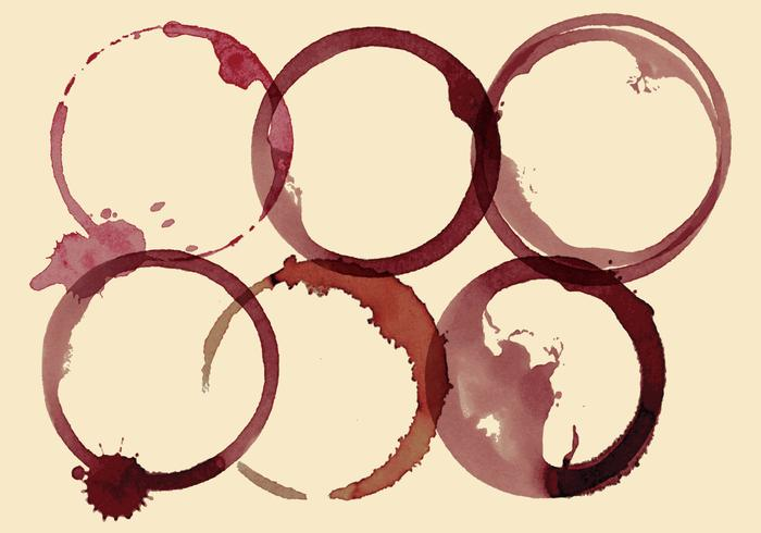 Wijn vlekken