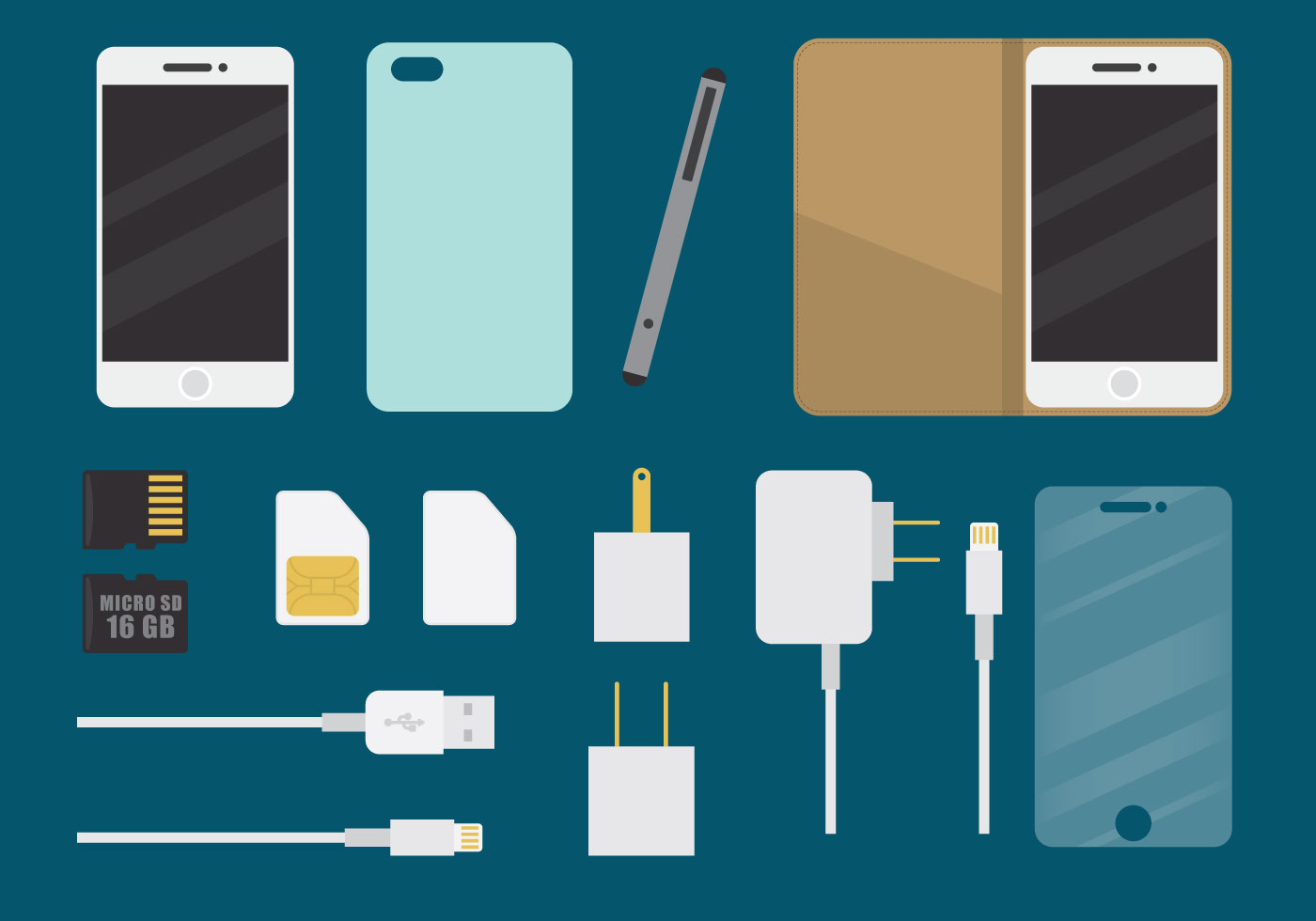 Phone Accessories Download Free Vector Art Stock