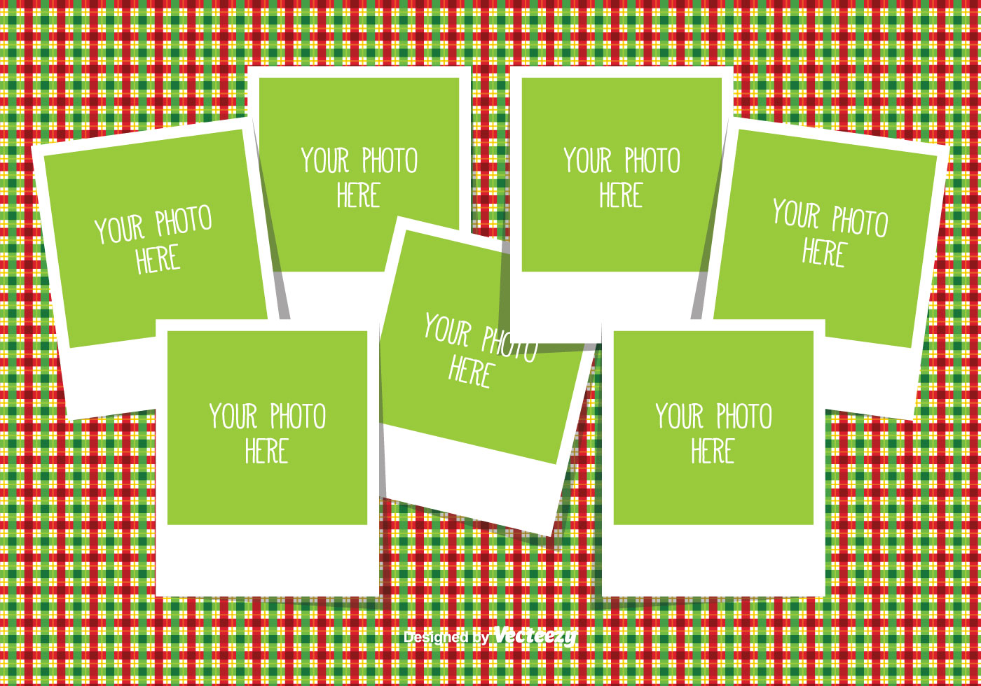 Christmas Photo Collage Template Download Free Vector