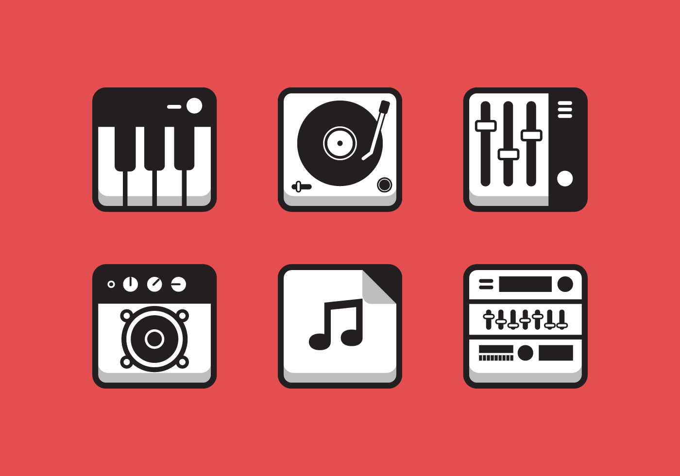 icon music vector system