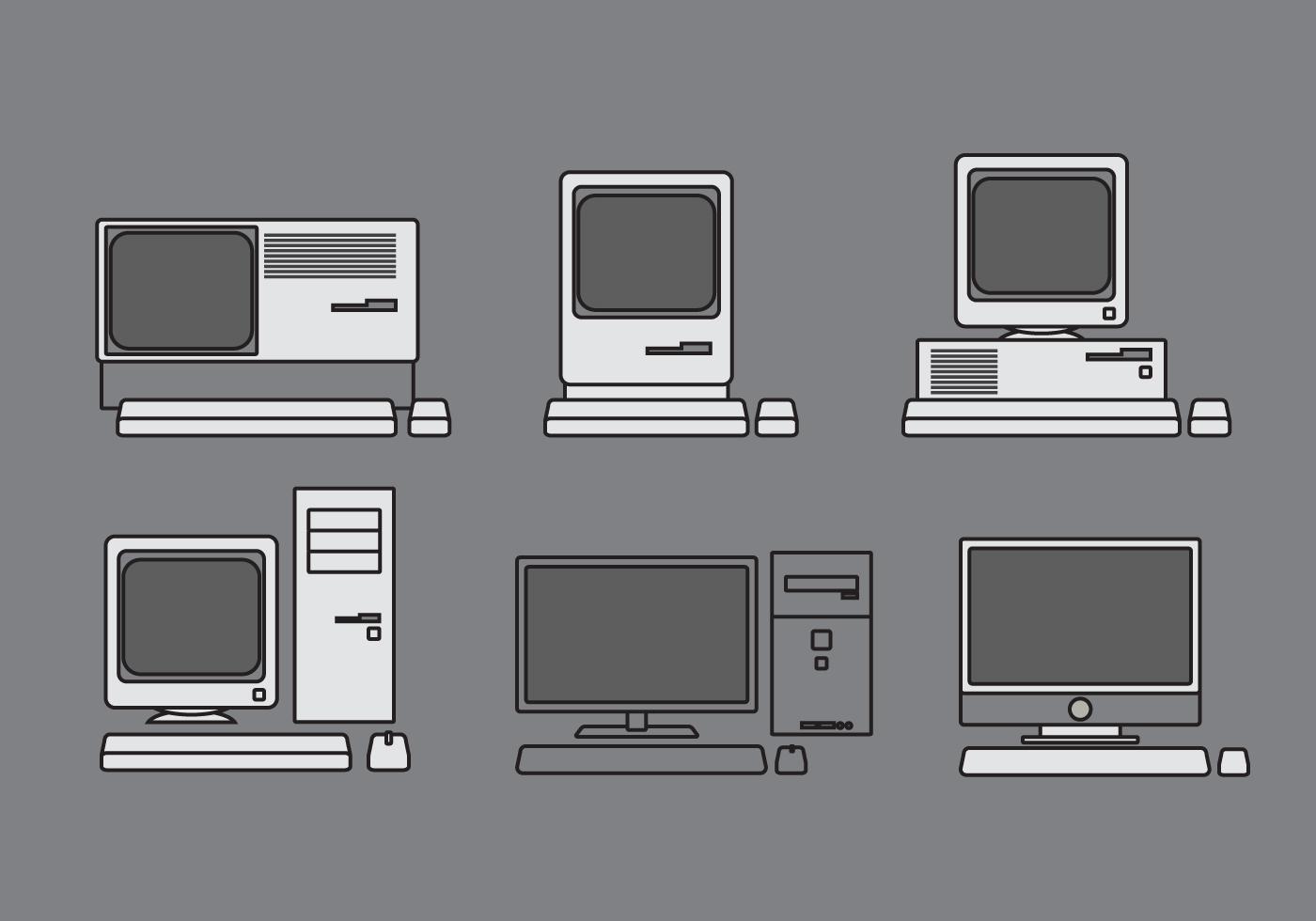 Vector Computer Illustration Set - Download Free Vectors ...