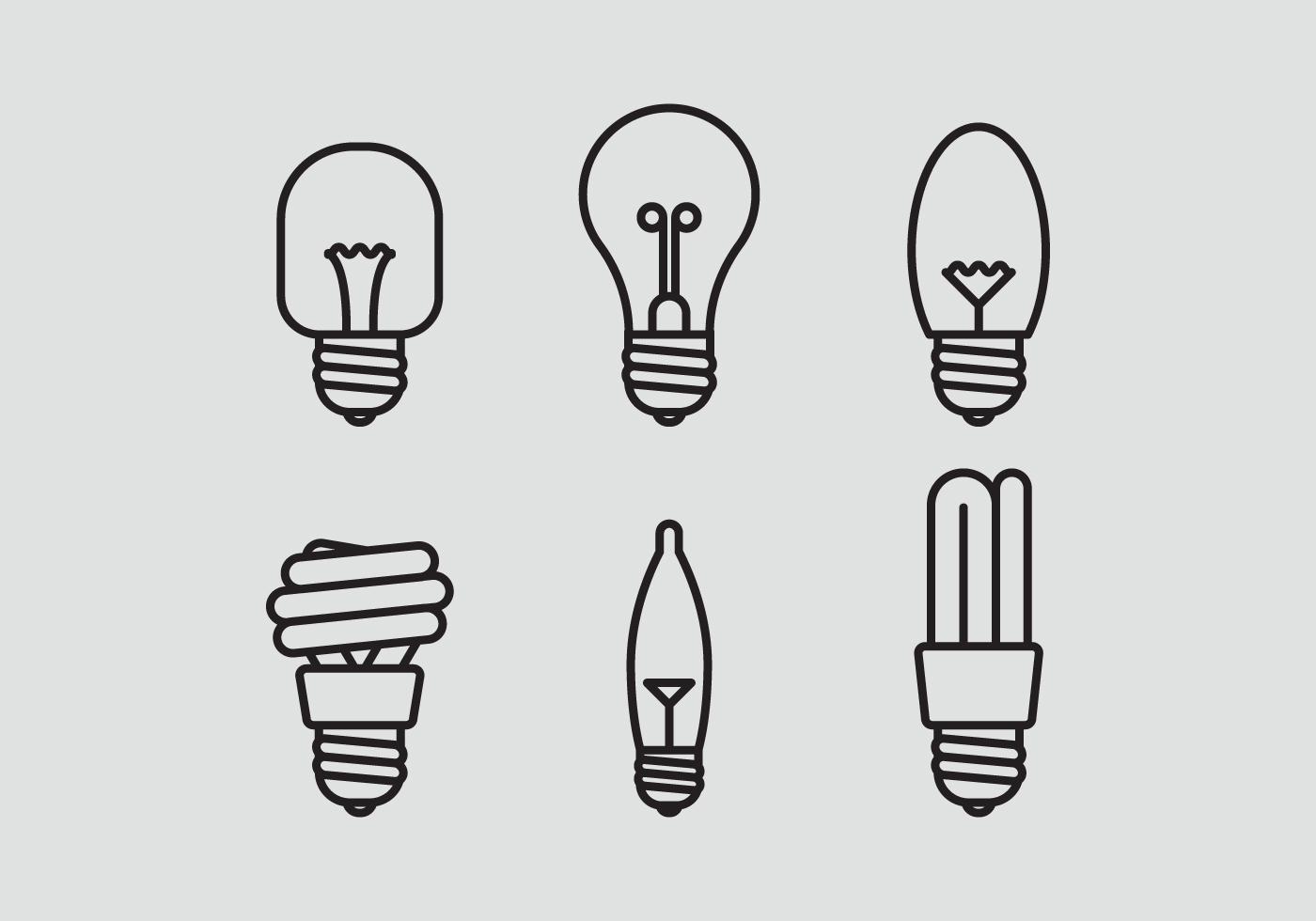 Vector Lamp Icon Set Download Free Vector Art Stock
