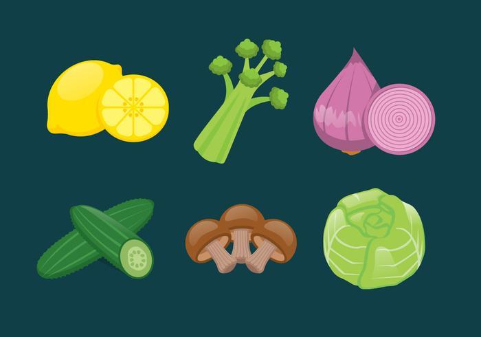 Vector Vegetables Illustration Set