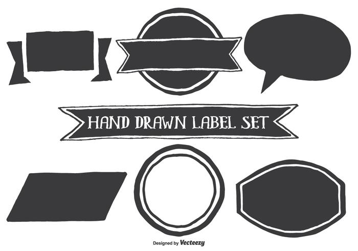 Hand Drawn Style Label Shapes