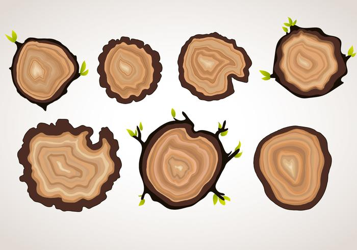 Vector Tree Ring Objects