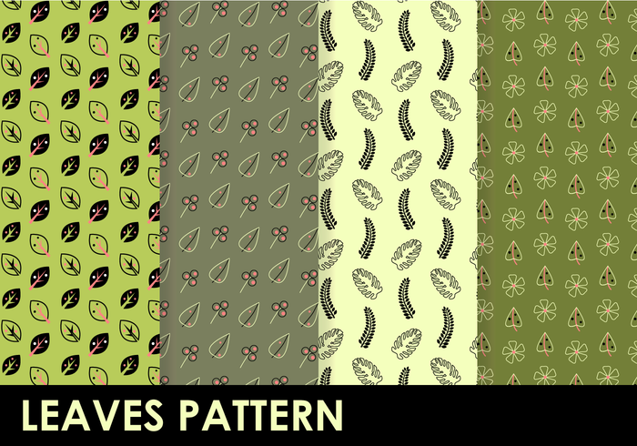 Free Leaves Pattern Vector