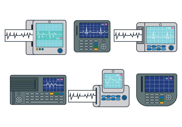 Ekg machine vector