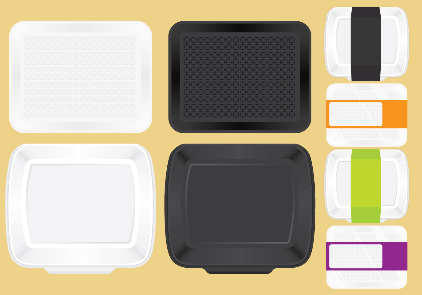 Food Trays For Lunch - Download Free Vector Art, Stock ... Empty Food Tray Clipart