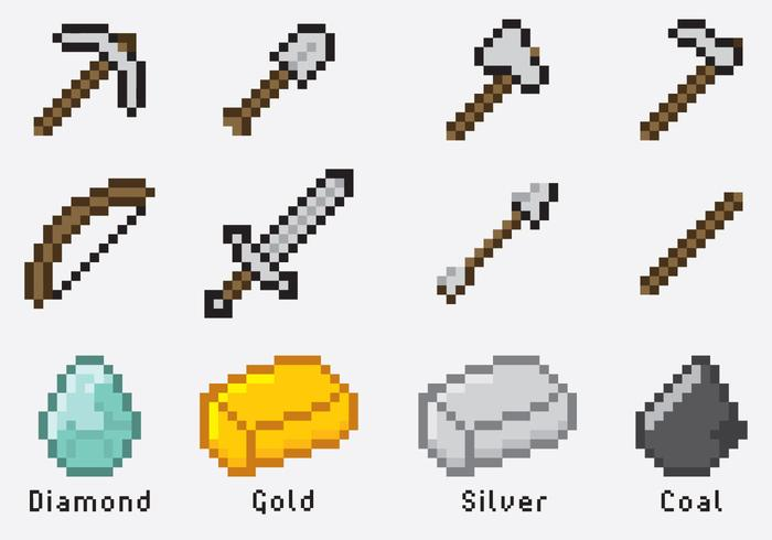 Minecraft Items Download Free Vector Art Stock Graphics