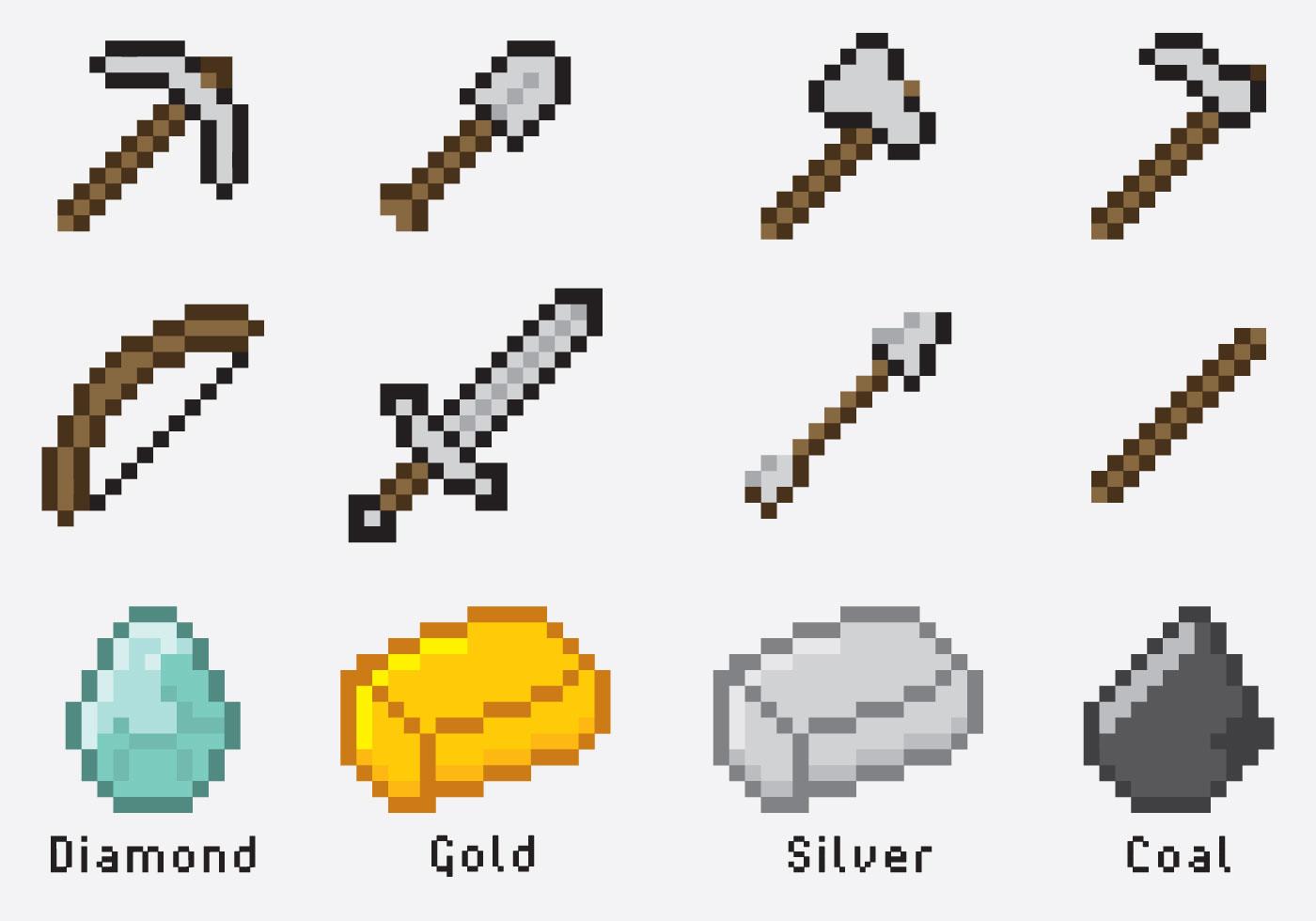 Minecraft Artículos - Descargue Gráficos y Vectores Gratis