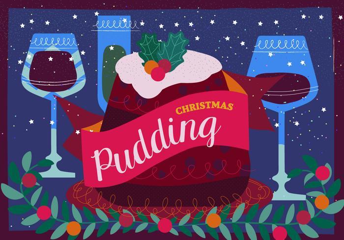 Illustration vectorielle de Pudding de Noël vecteur